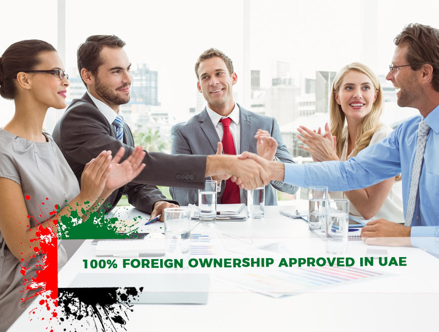 100% foreign Ownership approved in UAE