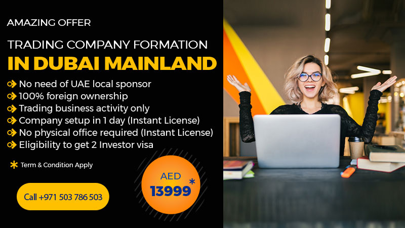 Trading License in Dubai Mainland without sponsor